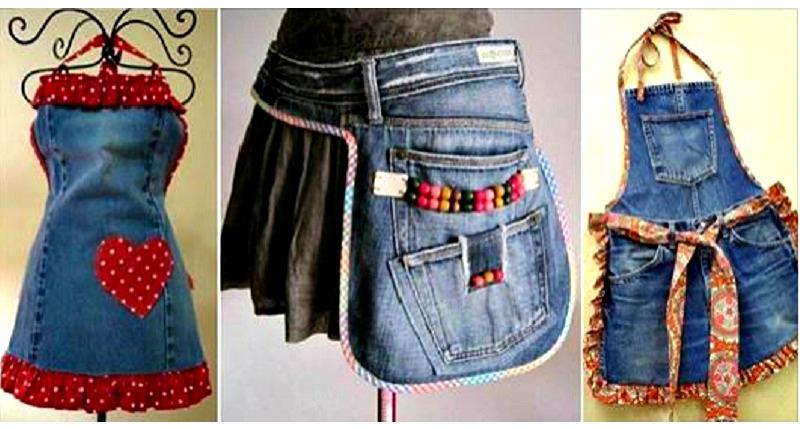voici quoi faire avec vos vieux jeans faites en des tabliers 13 mod les d couvrir. Black Bedroom Furniture Sets. Home Design Ideas