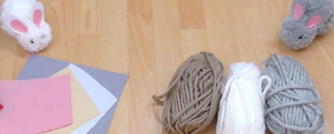 fabriquer lapin paques laine