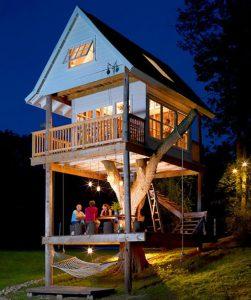 idee deco exterieur maison arbre