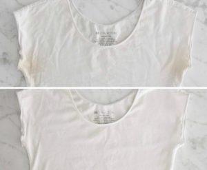 laver t shirt blanc