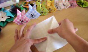 plier papier origami lapin