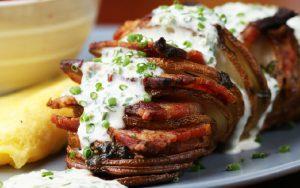 recette pomme terre bacon au four ciboulette
