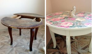 renover veille table