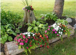 astuce jardin troncs