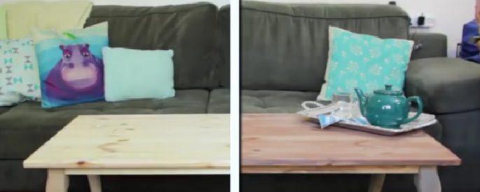 astuce teindre meuble en bois naturel