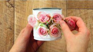 bricolage boite de conserve fleur