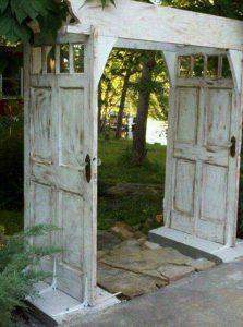 bricolage porte jardin