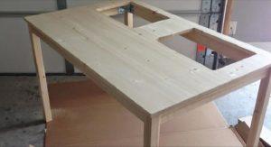 bricolage table enfant bois ikea