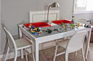 bricolage table lego enfant ikea