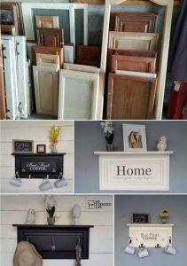 bricolage vieille porte armoire