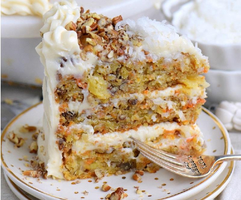 voici le meilleur gâteau aux carottes et aux ananas… un dessert
