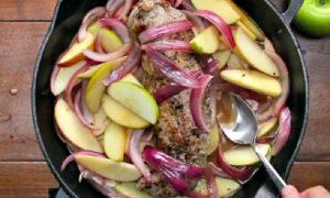 recette filet de porc pomme oignon