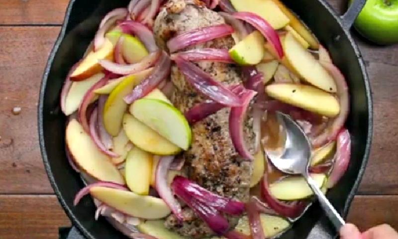 Voici comment cuisiner un filet de porc avec des pommes - Comment cuisiner des filets de maquereaux ...