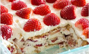 recette gateau au fraise facile