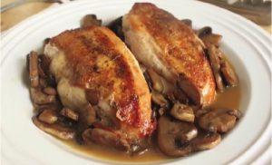 recette poulet blanc champignon