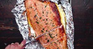 recette saumon miel ail