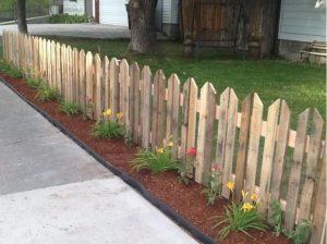 astuce jardin palette cloture