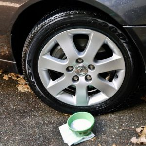 astuce nettoyer auto roue