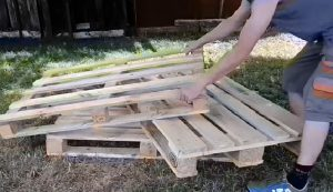 fabriquer canape jardin palette bois
