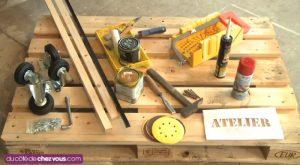 faire table basse palette bois materiel requis