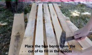 palette de bois fabriquer sofa