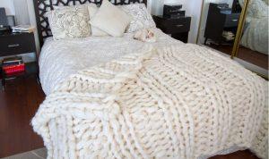 patron tricot couverture geante