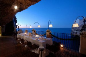 restaurant grotte italie reception