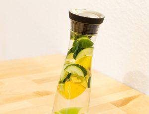 bienfait eau de comcombre citron