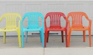 chaise plastique jardin couleur