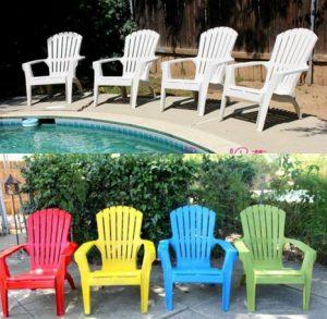 chaise plastique jardin couleur repeint 2