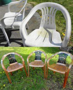 chaise plastique jardin couleur repeint