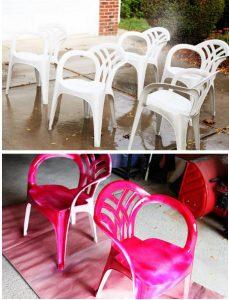 chaise plastique jardin couleur repeint 3