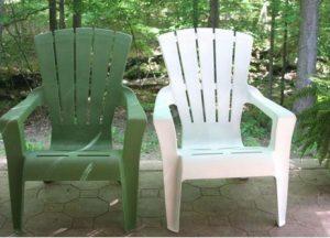 chaise plastique jardin couleur repeint 4