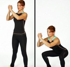 exercice au sol squat