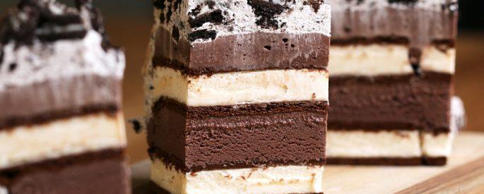 gateau sandwich creme glacee recette