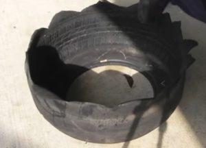 idee jardiniere jardin vieux pneus 2