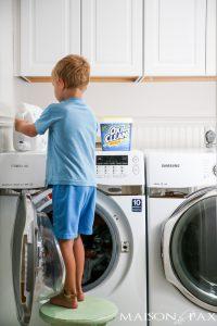 laver linge enfant tache menagere
