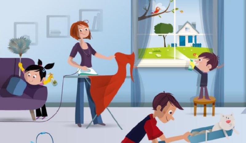 apprendre aux enfants aider dans la maison voici ce. Black Bedroom Furniture Sets. Home Design Ideas