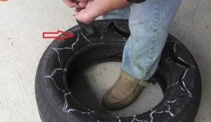 transformer vieu pneu jardiniere jardin