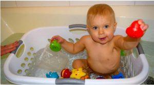 astuce bebe prendre bain