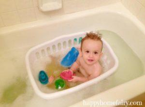 astuce bebe prendre son bain