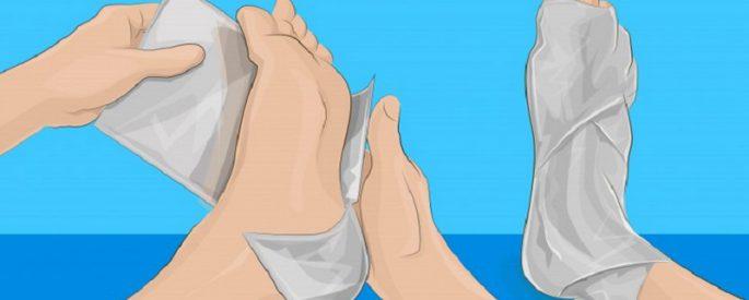 astuce rhume pied