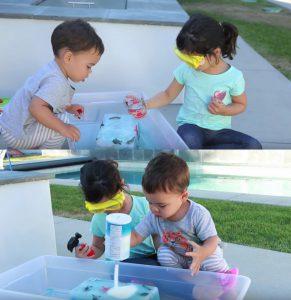 jouets enfants jeu sel eau