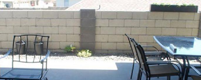 muret de beton astuce jardin