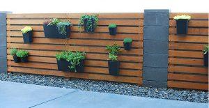 muret de beton jardiniere