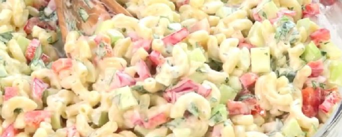 recette salade macaroni delicieuse