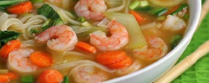 soupe aux crevettes facile
