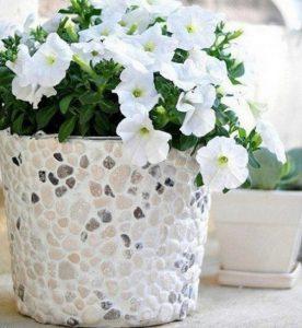 astuce jardin pierre deco pot fleur