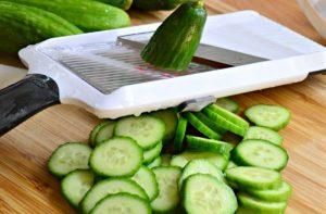 couper concombre