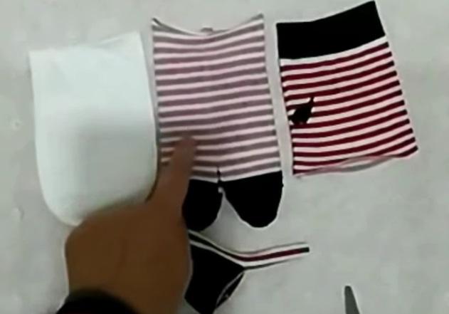 voici comment fabriquer une poup e partir de chaussettes un superbe bricolage. Black Bedroom Furniture Sets. Home Design Ideas